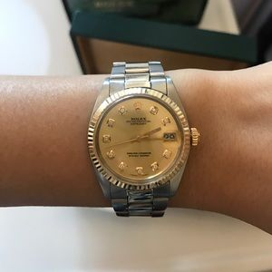 Rolex 31mm Two Tone Stainless Steel & Yellow Gold